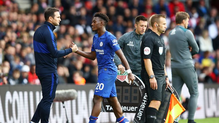 Callum Hudson-Odoi was substituted with 10 minutes to play