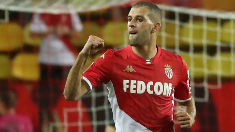 Leicester striker Islam Slimani is wanted by Aston Villa