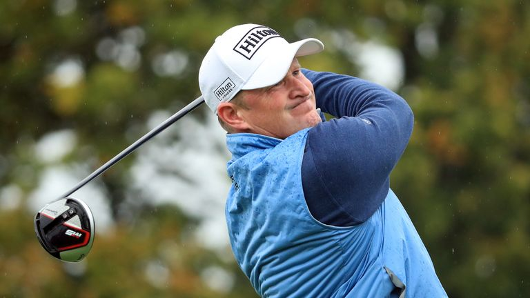 Jamie Donaldson marked his 44th birthday with a five-under 66 to get within four shots of the lead at the Open de France