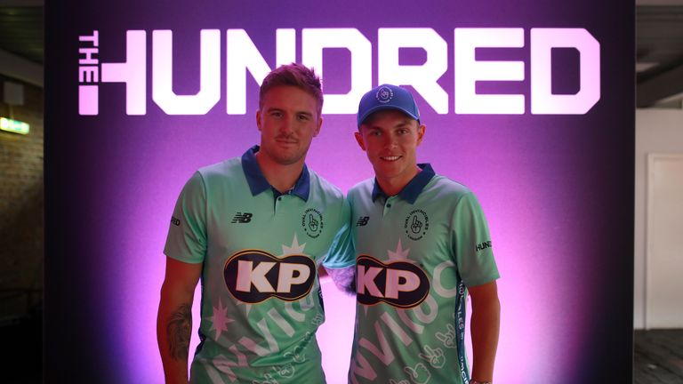 England's Jason Roy and Sam Curran will play for Oval Invincibles in The Hundred