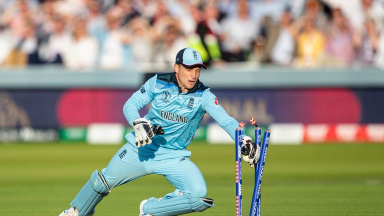 Jos Buttler took the stumps to win the World Cup for England at Lord's