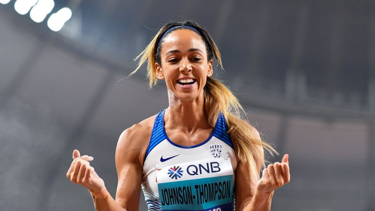Heptathlon world champion Katarina Johnson-Thompson won the Outstanding Performance award