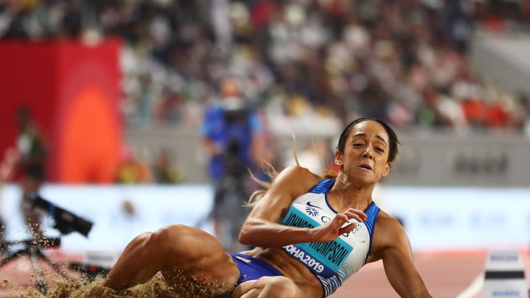 Johnson-Thompson increased her heptathlon lead with 6.77m in the long jump