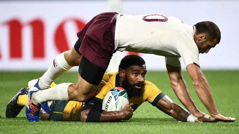 Marika Koroibete and co ground out victory against Georgia in Rugby World Cup Pool D