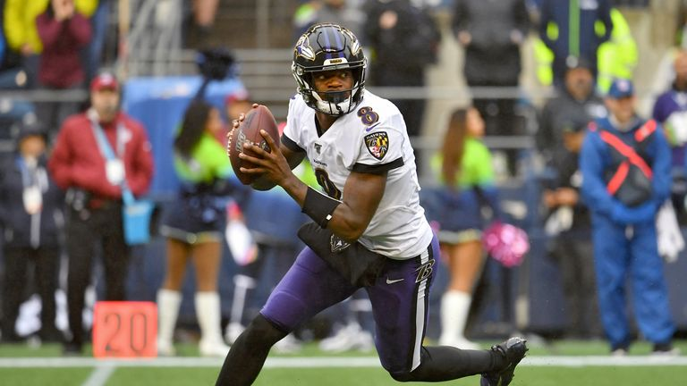 Lamar Jackson and the Ravens will host the undefeated Patriots in Week Nine on Sky Sports