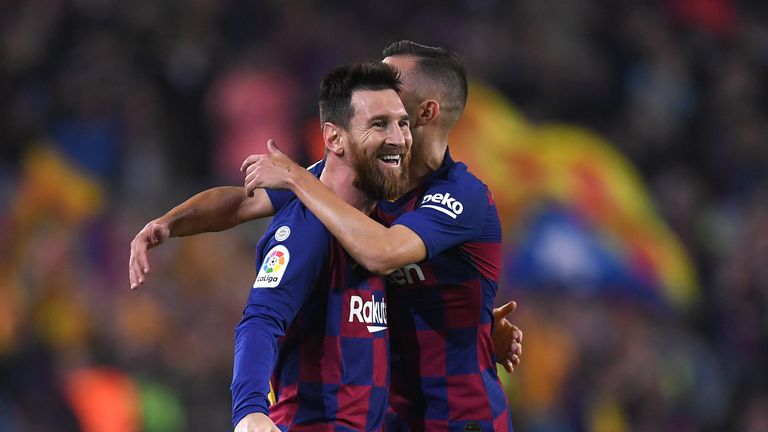 Lionel Messi's double sent Barcelona top, until Thursday at least