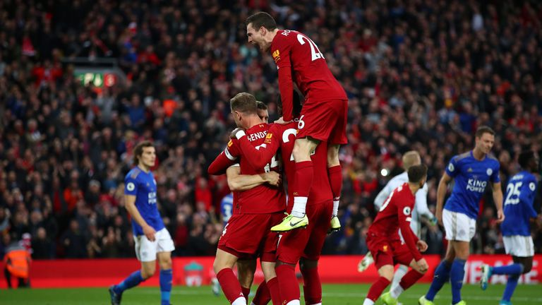 Liverpool celebrates Milner's late winner