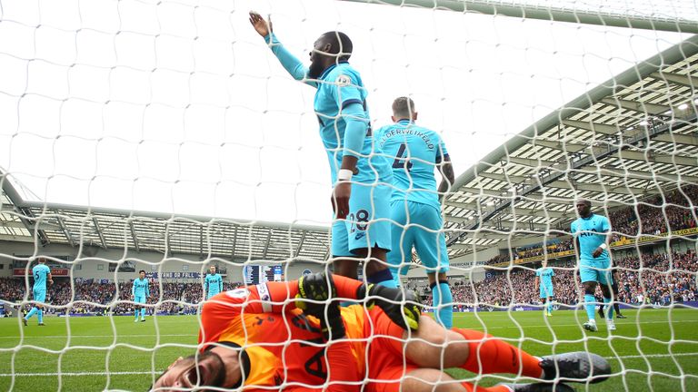 Hugo Lloris was injured in the third minute at Brighton as Neal Maupay scored the Seagulls' opening goal