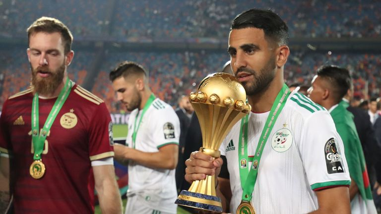 Mahrez captained Algeria to Africa Cup of Nations glory