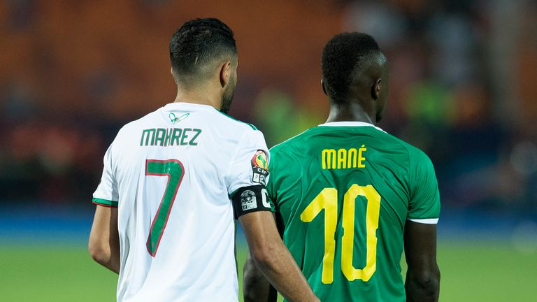 Mahrez outshone Liverpool and Senegal winger Sadio Mane, according to Algeria coach Belmadi