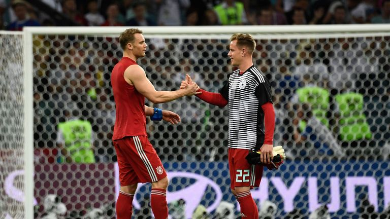 Manuel Neuer and Marc-Andre Ter Stegen are locked in a battle for Germany's No 1 spot