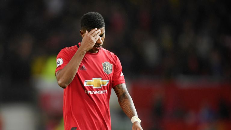 Marcus Rashford has scored three goals in 10 appearances in all competitions for United