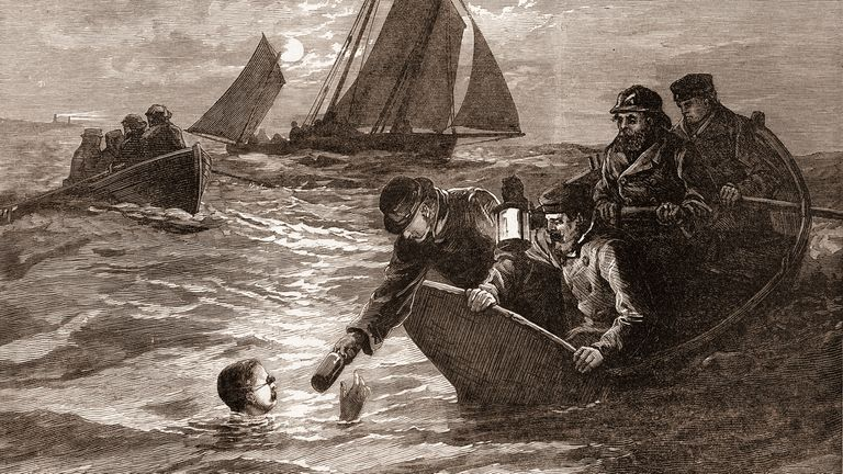 Captain Matthew Webb took 21 hours and 40 minutes to swim the Channel in 1875 - the first successful attempt