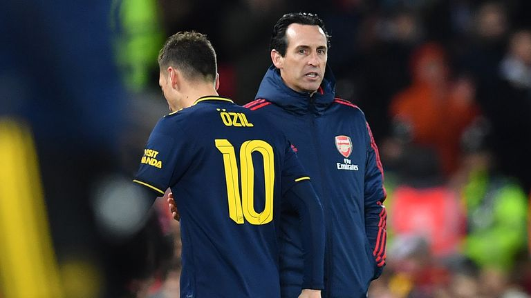 Ozil has only started one Premier League game this season under Unai Emery