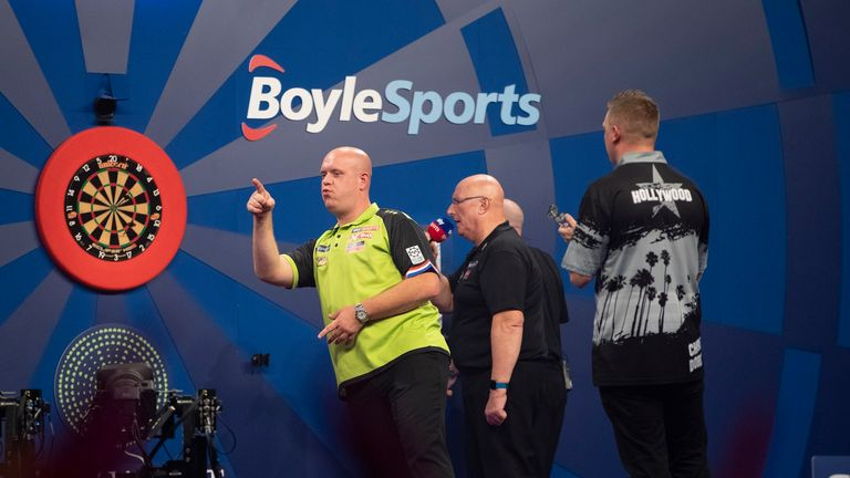 Van Gerwen is looking to defend the title for the first time