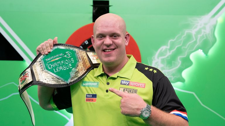 Michael van Gerwen sealed the Champions League of Darts title