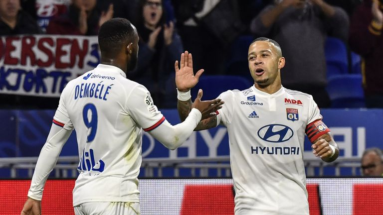 Moussa Dembele and Memphis Depay were both on target for troubled Lyon