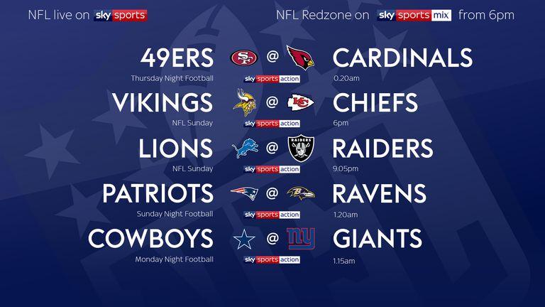 Your Week Nine NFL fixtures!