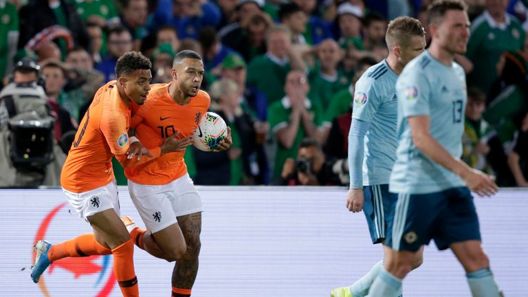 Northern Ireland suffered a 3-1 defeat to the Netherlands, after Josh Magennis opened the scoring