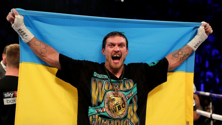 Oleksandr Usyk makes his heavyweight debut on Saturday