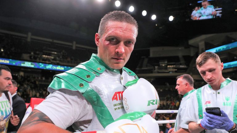 Oleksandr Usyk is the mandatory challenger for the WBO heavyweight title