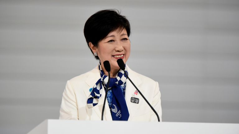Tokyo governer Yuriko Koike insists the Games must go ahead at some point