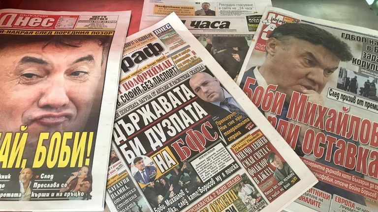 "Bulgarian headlines on Wednesday morning read titles such as ""Racist Tornado"", ""Bye Bye, Bobby!"" and ""Bulgaria got branded worldwide forever"""