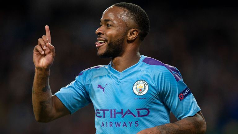 Raheem Sterling became the eighth English player to score a Champions League hat-trick