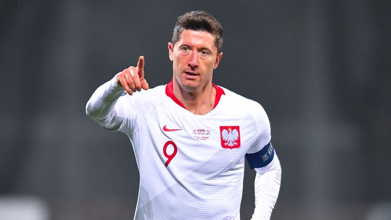 Robert Lewandowski scored both goals for Poland during their European Qualifier victory
