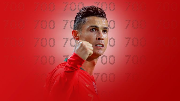 Cristiano Ronaldo scores 700th career goal against Ukraine