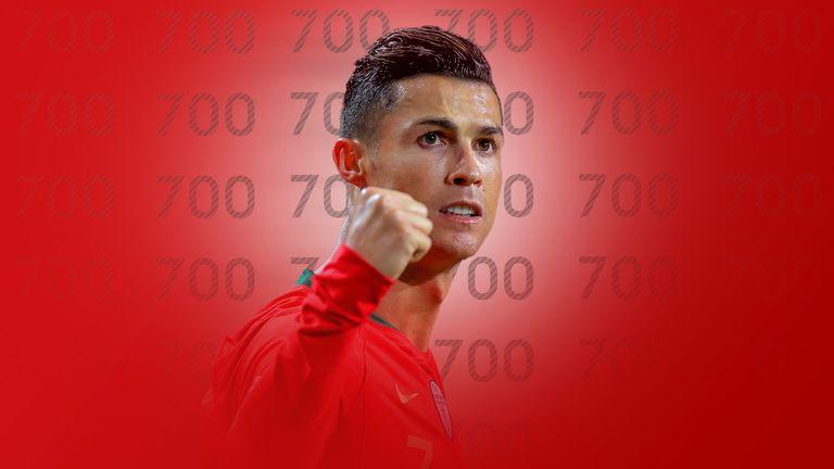 Cristiano Ronaldo scores 700th goal of his career during Portugal's defeat to Ukraine