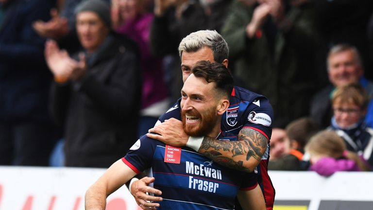 Ross County's Joe Chalmers will look to cause problems for Celtic on Sunday