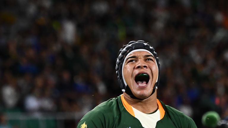 South Africa wing Cheslin Kolbe has recovered from an ankle knock to start Saturday's World Cup final in Yokohama