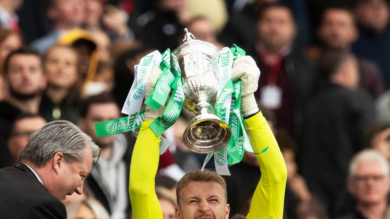 Bain has kept 27 clean sheets in 45 appearances for Celtic