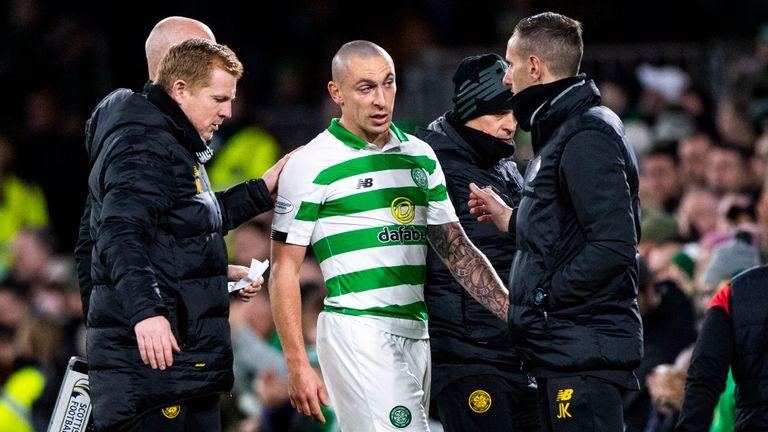 Celtic captain Scott Brown came off against St Mirren