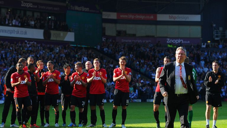 Sir Alex Ferguson during his last game as Manchester United manager in May 2013
