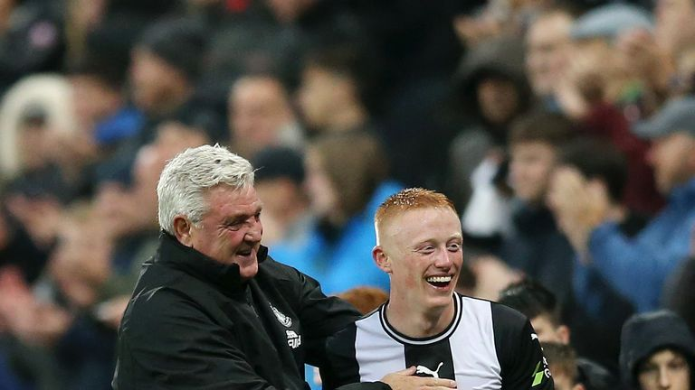 Matty Longstaff has made four appearances for Newcastle, scoring once