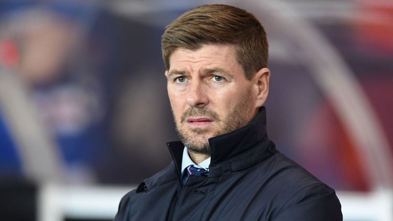 Steven Gerrard's Rangers are level with Celtic at the top of the Scottish Premiership