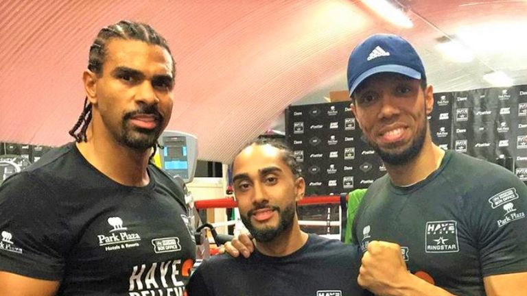 Tal Singh has been preparing for his professional debut in David Haye's gym