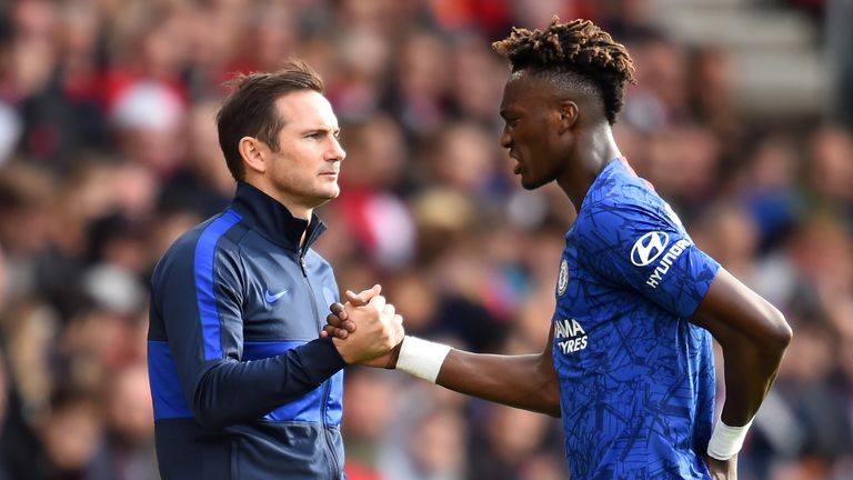 Frank Lampard salutes Tammy Abraham after the young striker scored again at Southampton