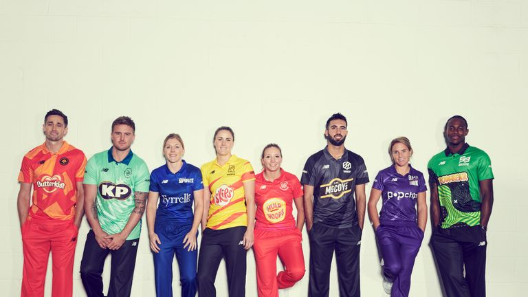 Chris Woakes, Jason Roy, Heather Knight, Nat Sciver, Katie George, Saqib Mahmood, Lauren Winfield and Jofra Archer will represent the eight men's and women's teams in The Hundred