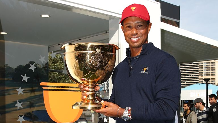 Woods has made eight Presidents Cup appearances as a player