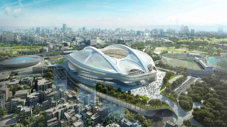 The new National Olympic Stadium in Tokyo was due to host the Rugby World Cup's marquee games, but the original designs were scrapped in 2015