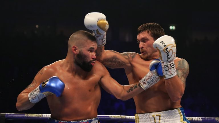 Bellew traded punches with Usyk at Manchester Arena