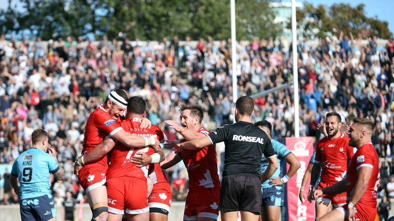 Toronto triumphed in front of a record crowd at Lamport Stadium