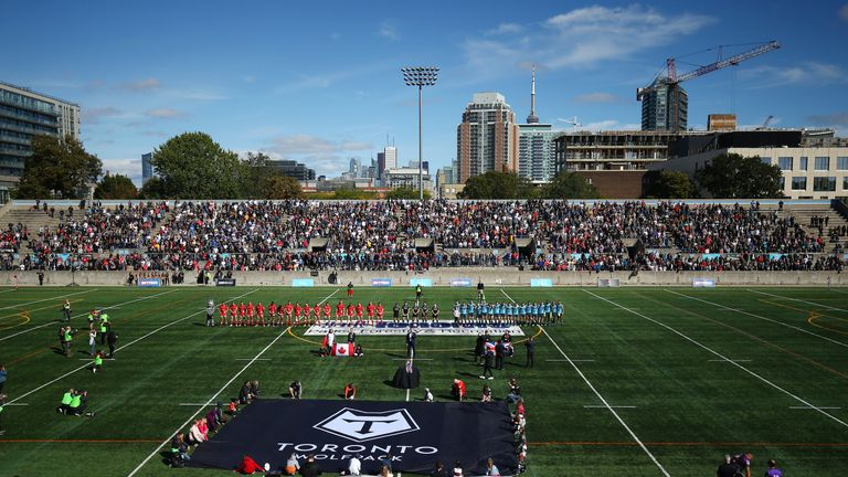 Toronto drew nearly 10,000 fans to watch their clash with Featherstone