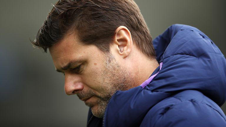 Tottenham manager Mauricio Pochettino endured a miserable afternoon at Brighton