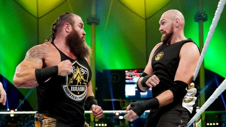 Tyson Fury beat Braun Strowman on his WWE debut and could now have Brock Lesnar in his sights