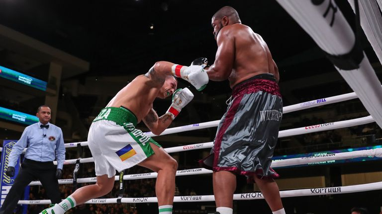Usyk stopped Witherspoon after seven rounds