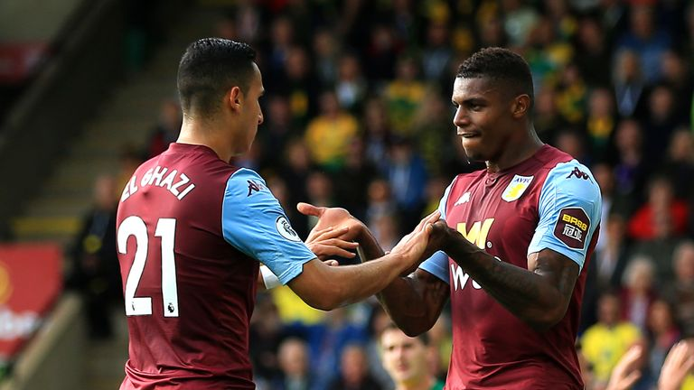 The forward scored twice in Villa's recent 5-1 thrashing of Norwich